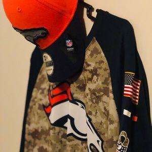Nike NFL Salute to Service Broncos Top/Hat Bundle!